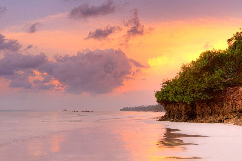 Diani beach sunrise