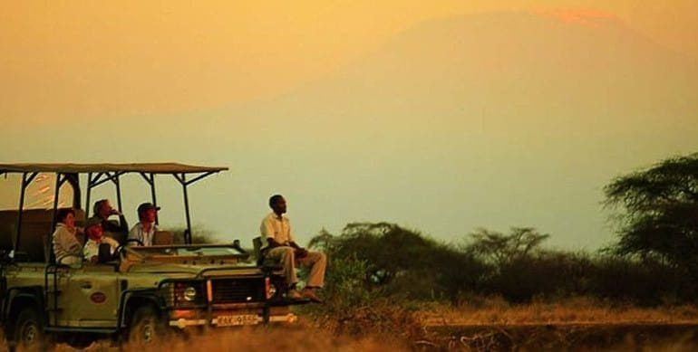 Amboseli Game Drive, Near Mt Kilimanjaro