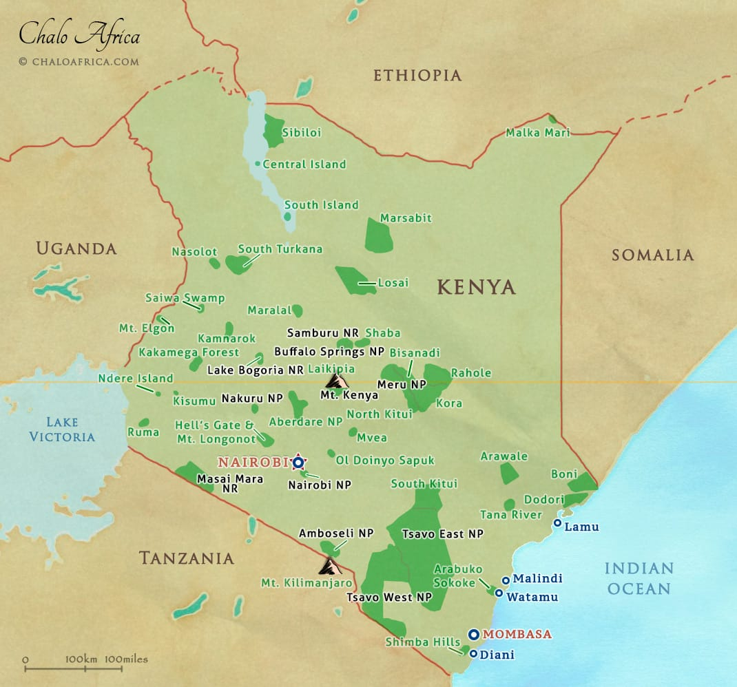 kenya safari national parks reserves