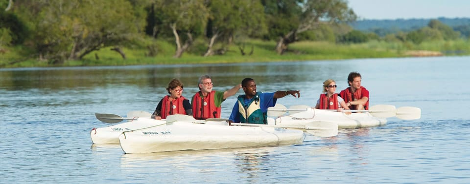 Canoeing on the Zambezi. Another great Victoria Falls Activity Package.