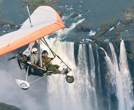 Microlight flights over Victoria Falls.