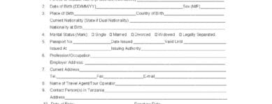 Tanzania Visa Application for US Citizens