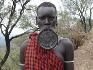 A member of the Mursi Tribe. By MauritsV.