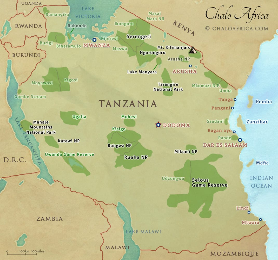 Tanzanias National Parks Reserves Conservation Areas Chalo Africa