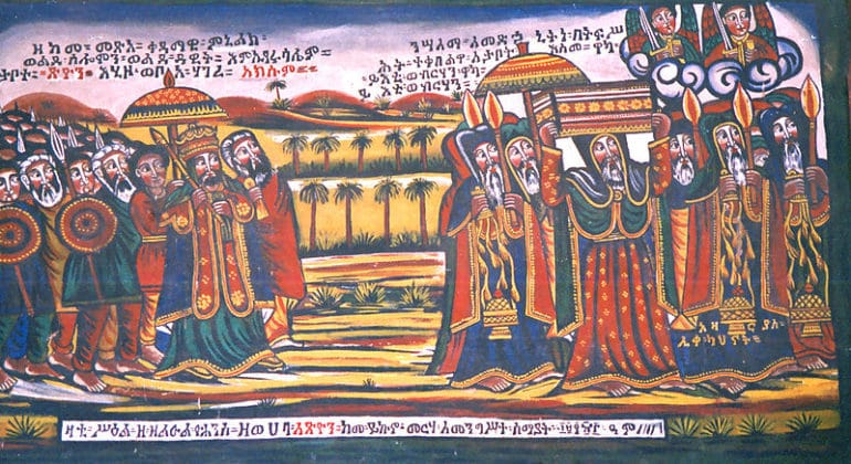 The Ark of the Covenant arriving in Ethiopia with Menelik I. Axum, Ethiopia by gill_penney