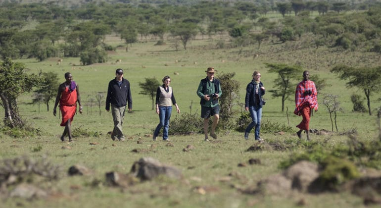 Porini Lion Camp - Maasai walks