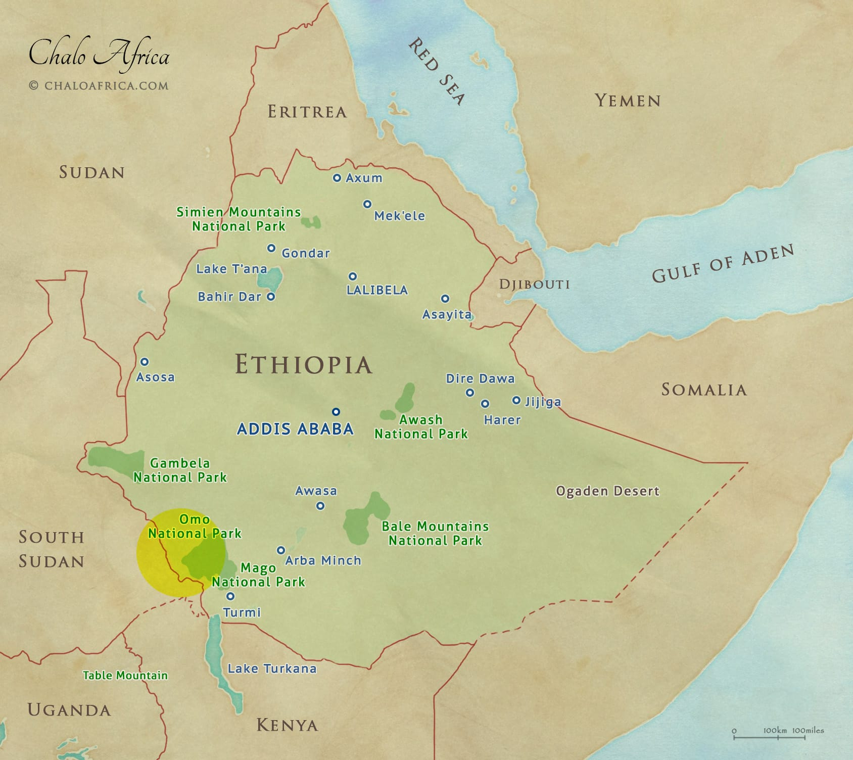 Omo Valley Map