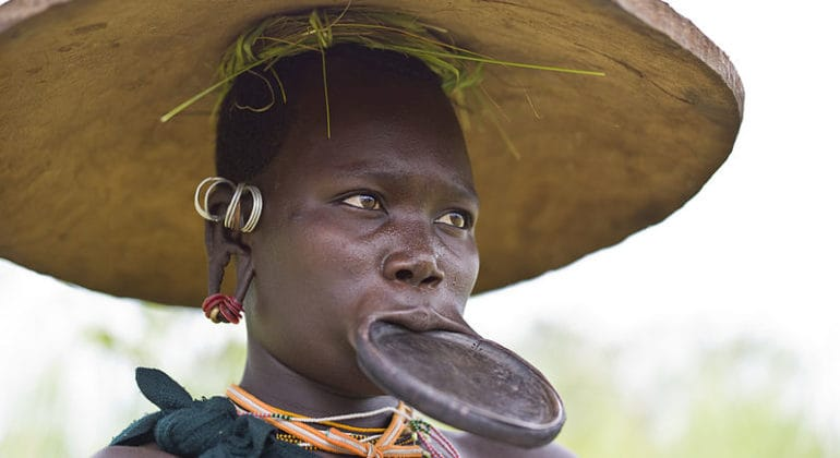 Surma Woman. Credit Alfred Weidinger.