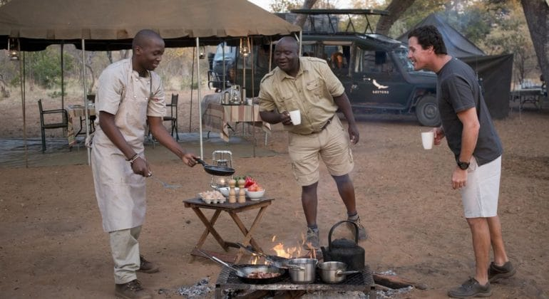 Cooking Near Tents