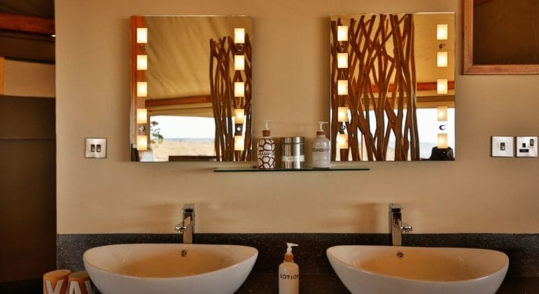 Loisaba Tented Camp Bathroom