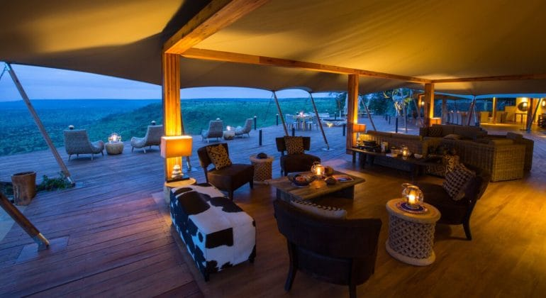 Loisaba Tented Camp Main Lounge
