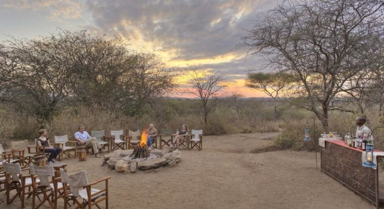 Sundowners And Campfire