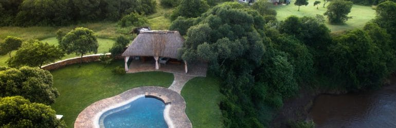 House In The Wild Aerial View